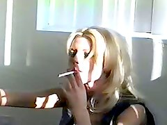 Big Tit Blonde Smoking Masturb