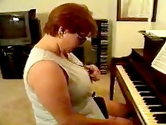 Threesome Mature Piano Teacher
