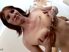 Real amateur housewife playing