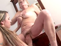 Granny loves to fuck with youn