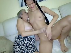 Teen finds pleasure in granny