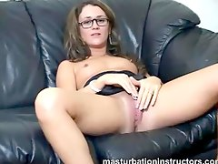 Glasses girl masturbation inst