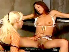 She is spanked by her mistress