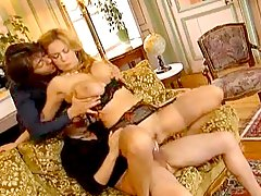 Euro milf strips and two guys