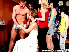 Femdom bride finds something s