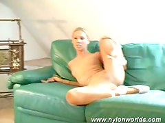 Hot blonde started naked but s