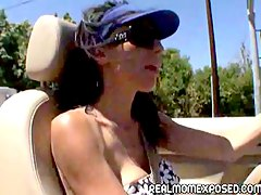 Hot milf driving,talking dirty