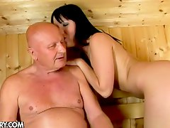 Fucking Chanel in the sauna