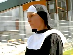 Sweet Lesbian Nun Turned into