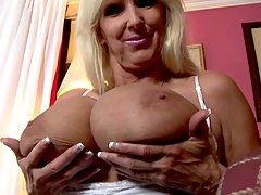 huge boobs mature blonde taunt
